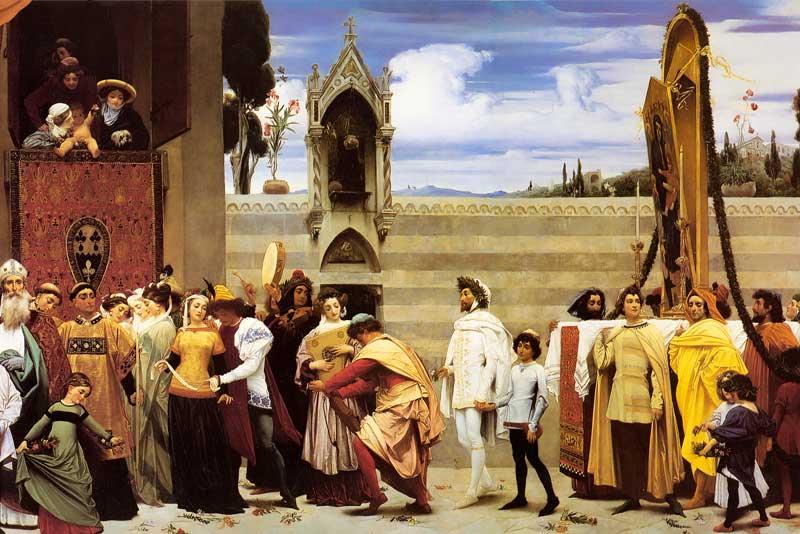 Frederic Leighton Cimabue La Madonna-di Cimabue viene portata in processione attraverso le vie di Firenze 1855