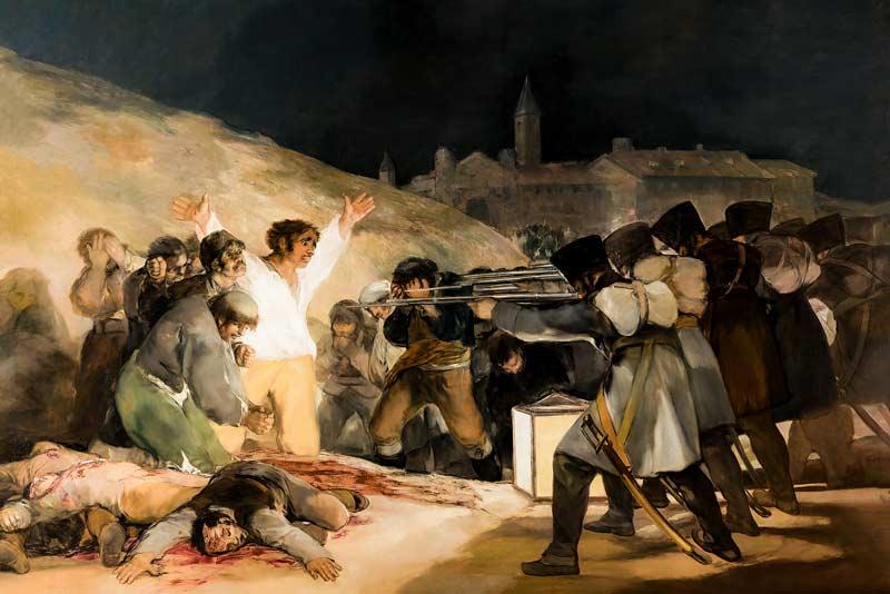 Francisco Goya, 3 maggio 1808, olio su tela, 1814