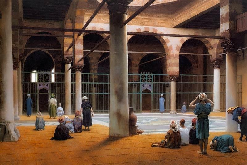 Ibn Al Rawandi - Jean Leon Gerome, Interno di una moschea, 1875