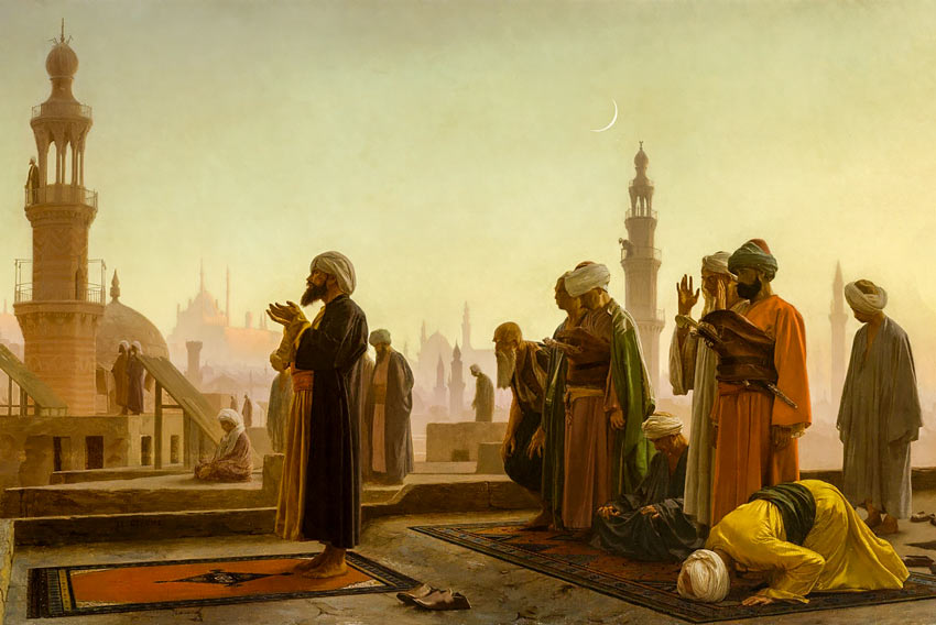 Ibn Al Rawandi - Jean Leon Gerome, Prayer at Cairo, 1865
