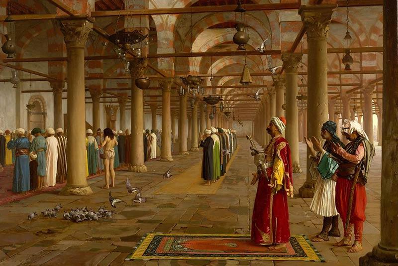 Jean Leon Gerome, Preghiera alla moschea, 1871