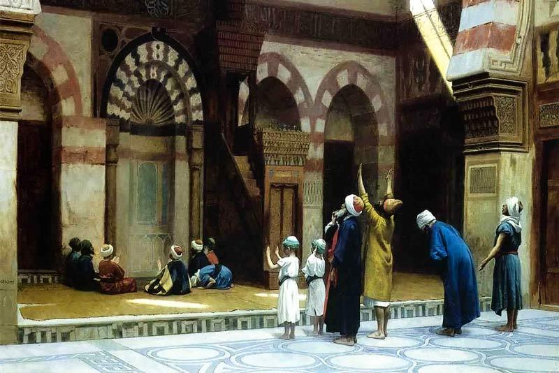Jean Leon Gerome, Preghiera alla moschea di Coid Bey al Cairo