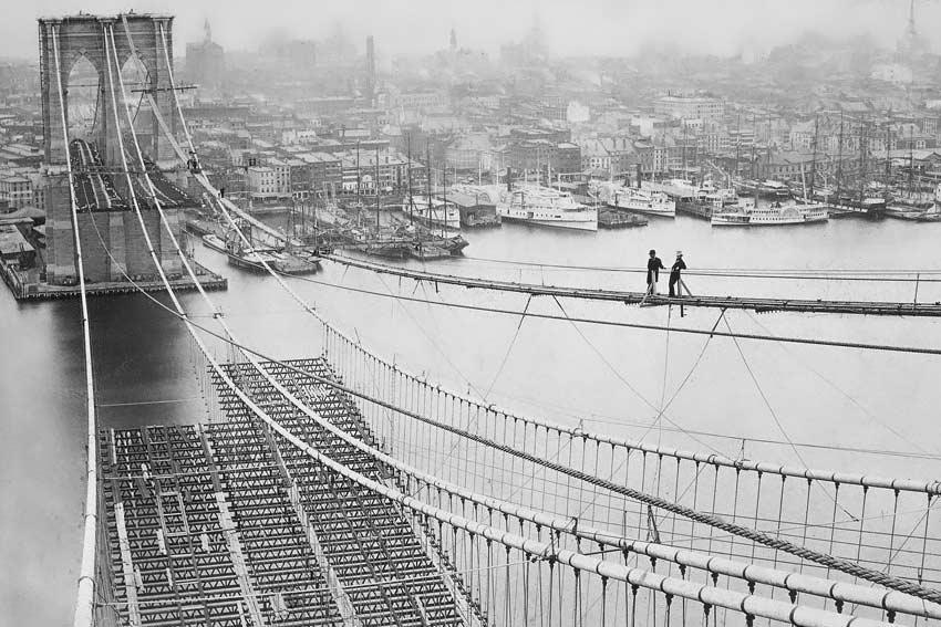 Ponte di Brooklyn 1870