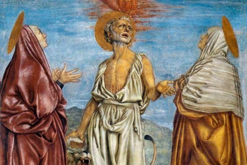 Andrea del Castagno, La trinità, 1453 (particolare)