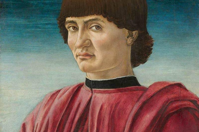 Andrea del Castagno, Ritratto d'uomo, 1450-1457 (particolare)