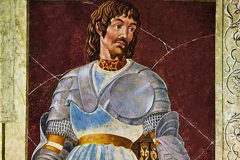 Andrea del Castagno, Ciclo degli uomini e donne illustri, affresco di Pippo Spano