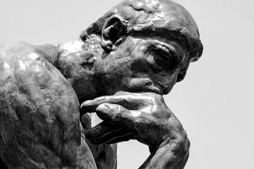 Auguste Rodin, Il pensatore, 1880-1902, scultura in bronzo