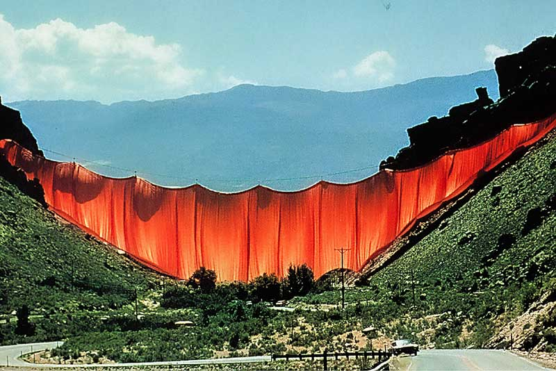 Christo, Jeanne Claude, Valley Curtain