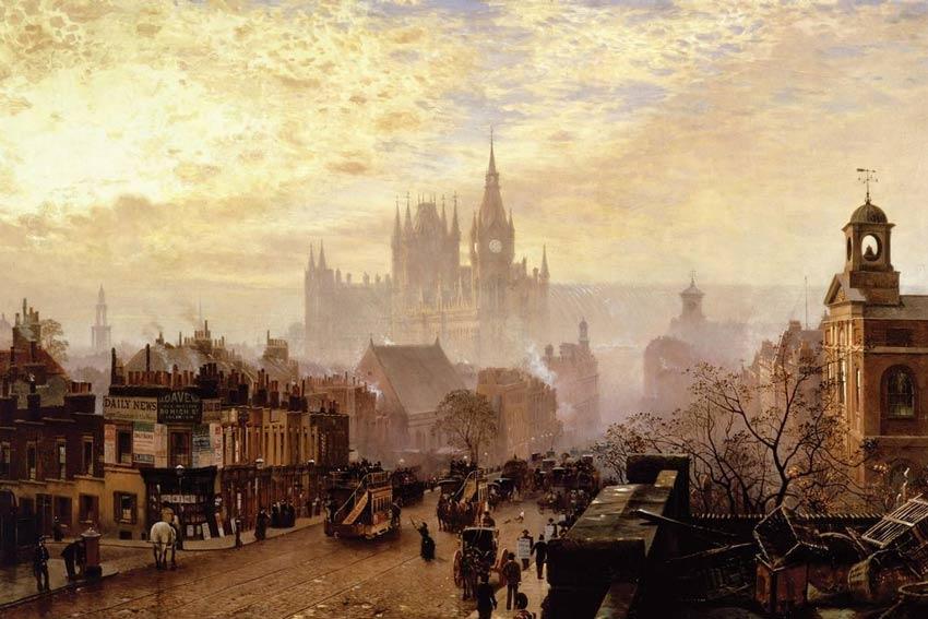 John O' Connor, Da Pentonville Road guardando verso ovest, 1884