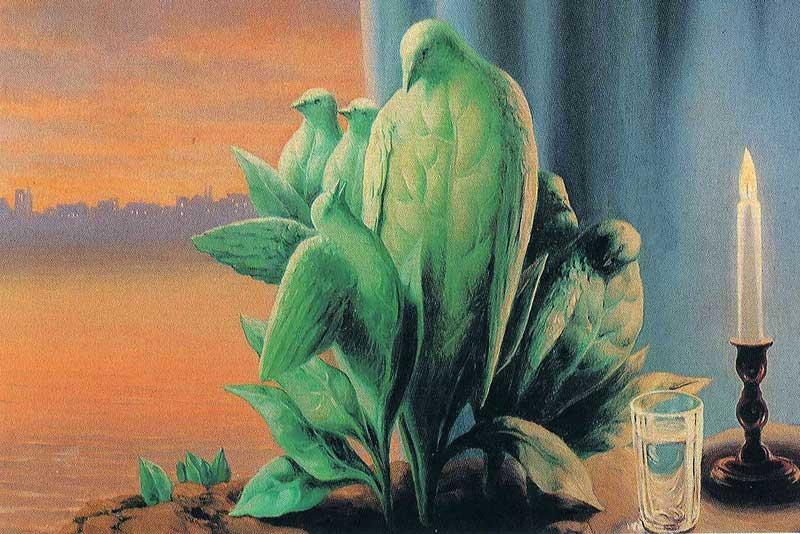 René Magritte, La nuit d'amour, 1947