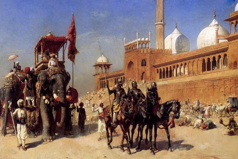 Edwin Lord Weeks, Il ritorno della corte imperiale, 1886