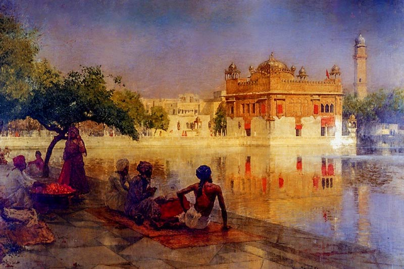 Edwin Lord Weeks, Il tempio dorato di Amritsar, 1890