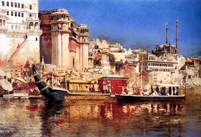 Edwin Lord Weeks, La chiatta del maharaja di Benares, 1883