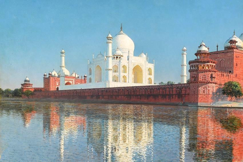 Vasily-Vereshchagin, Taj Mahal. Il Taj Mahal fu fatto costruire da Shah Jahan, padre di Aurangzeb
