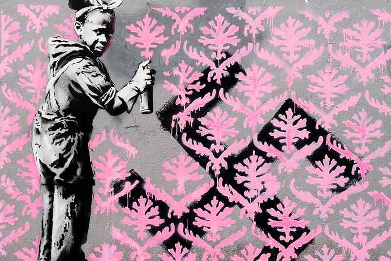 Banksy, Go Flock Yourself, Parigi 2018