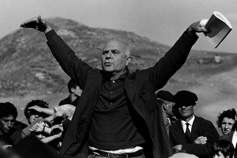 Il poeta siciliano Ignazio Buttitta a Roccamena, 1963