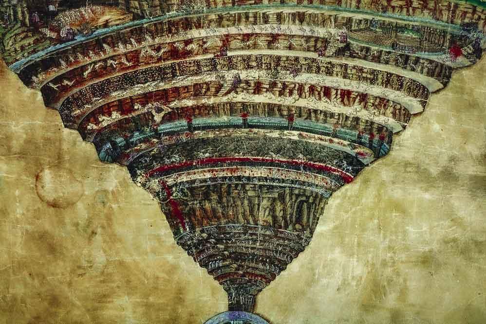 Sandro Botticelli, La mappa dell'Inferno, 1480-1495, 2b Bav Vat Lat 1896