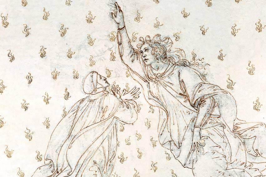 Sandro Botticelli, Dante e Beatrice