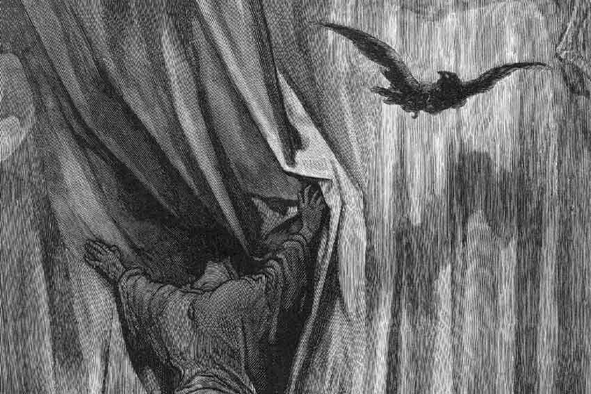 Gustave Doré, illustrazione per Il corvo di Edgar Allan Poe