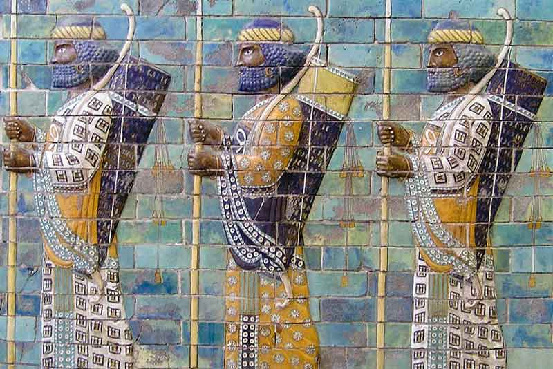 Fregio palaziale achemenide - Armata perduta re cambise