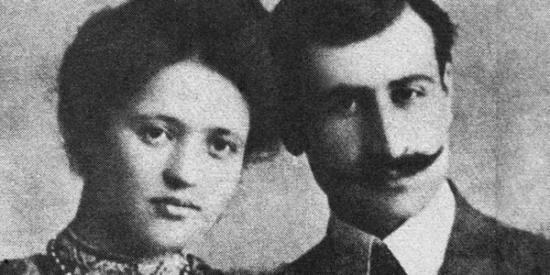 Daniel Varujan con la moglie