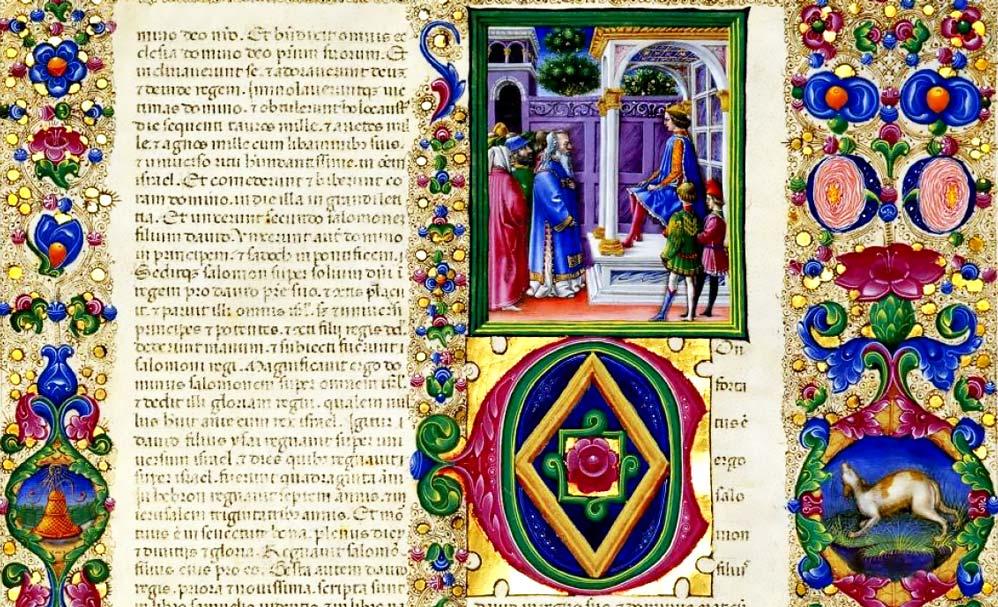 Bibbia di Borso d'Este, I, Libro delle Cronache II, Biblioteca Estense di Ferrara (particolare)