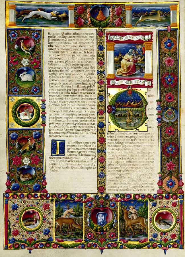 Franco dei Russi, Principio del libro di Giosuè, Bibbia di Borso d'Este, II, f. 88, v, Biblioteca Estense di Modena