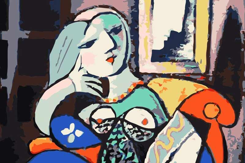 Pblo Picasso, donna con libro