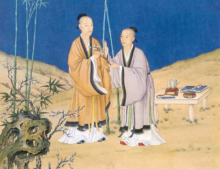 Anonimo, Yongzheng e Qianlong, fine XVIII secolo, inchiostro su seta.