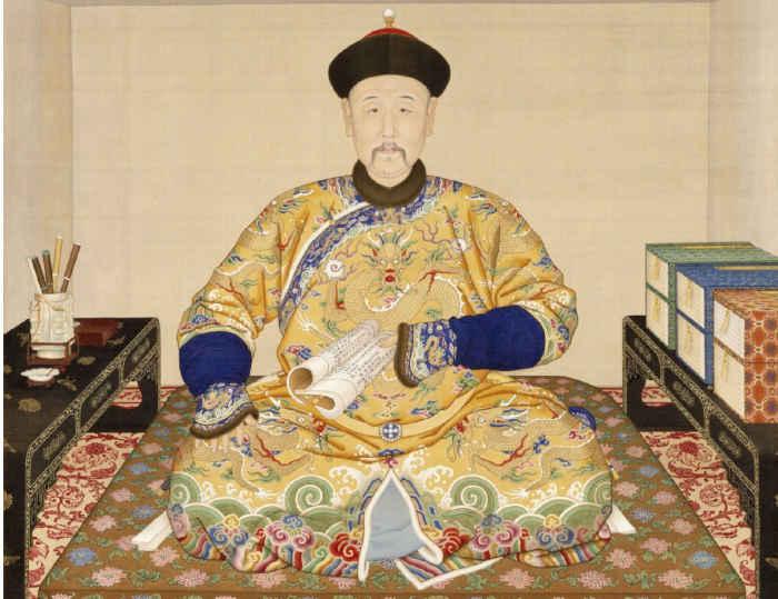 Ritratto di Yongzheng mentre legge, conservato al Museo del Palazzo Reale di Pechino