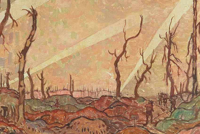 A.Y Jackson, Bosco, sera, 1918