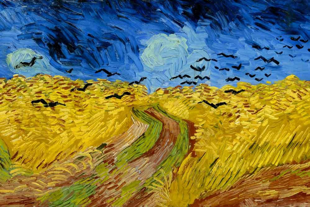 Vincent Van Gogh, Campo di grano con volo di corvi, 1890