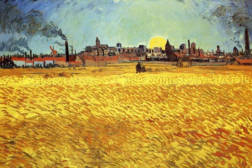 Vincent Van Gogh, Sera d'estate, campo di grano al tramonto, 1888