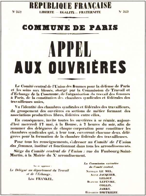 Appello agli operai della Comune di Parigi