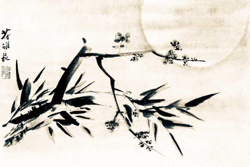 Gao Qipei, Bambù, fiori di pruno e luna