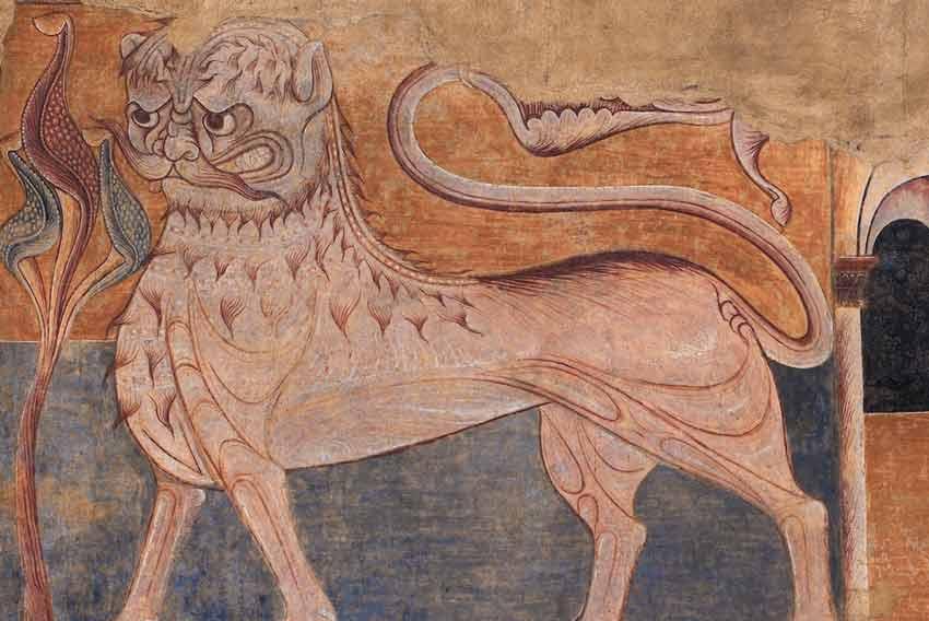Affresco nella chiesa di Burgos, Spagna, oggi al Metropolitan Museum di New York, di epoca duecentesca