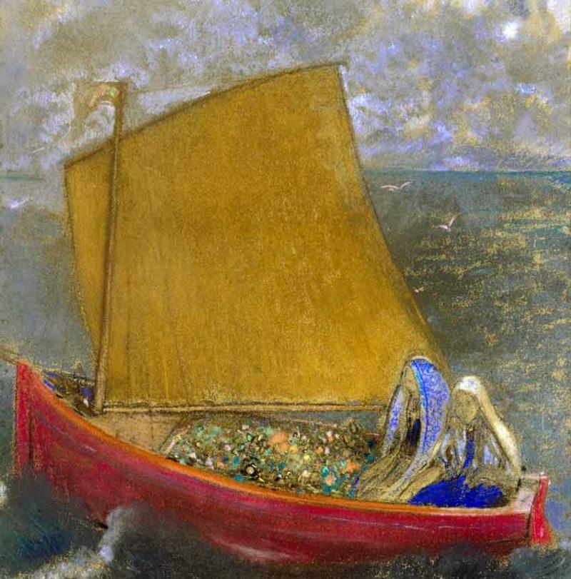 Odilon Redon, la vela gialla, 1905