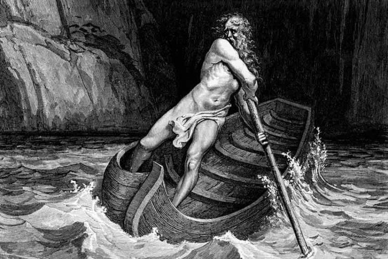Gustave Dorè, Caronte, Illustrazione per la Divina Commedia