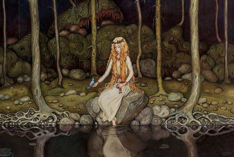 John Bauer, La principessa nel bosco