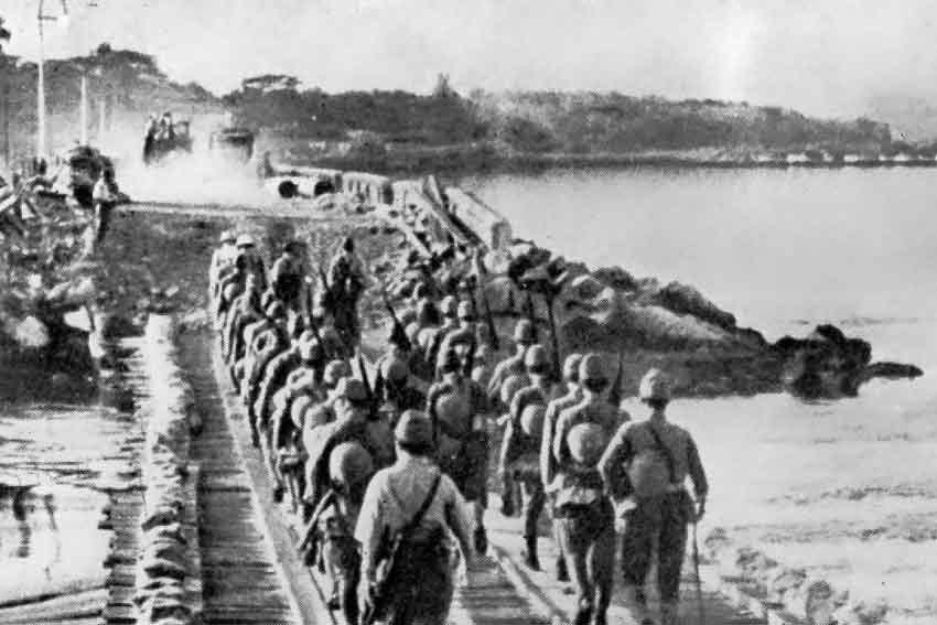 Soldati-giapponesi-marciano-verso-Singapore-febbraio-1942