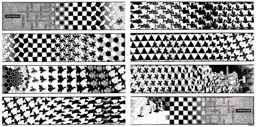 Maurits Cornelis Escher, Metamorphosis II, 1939-40