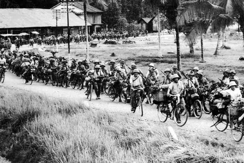 soldati-giapponesi-nelle-vicinanze-di-Singapore,-inverno-1942