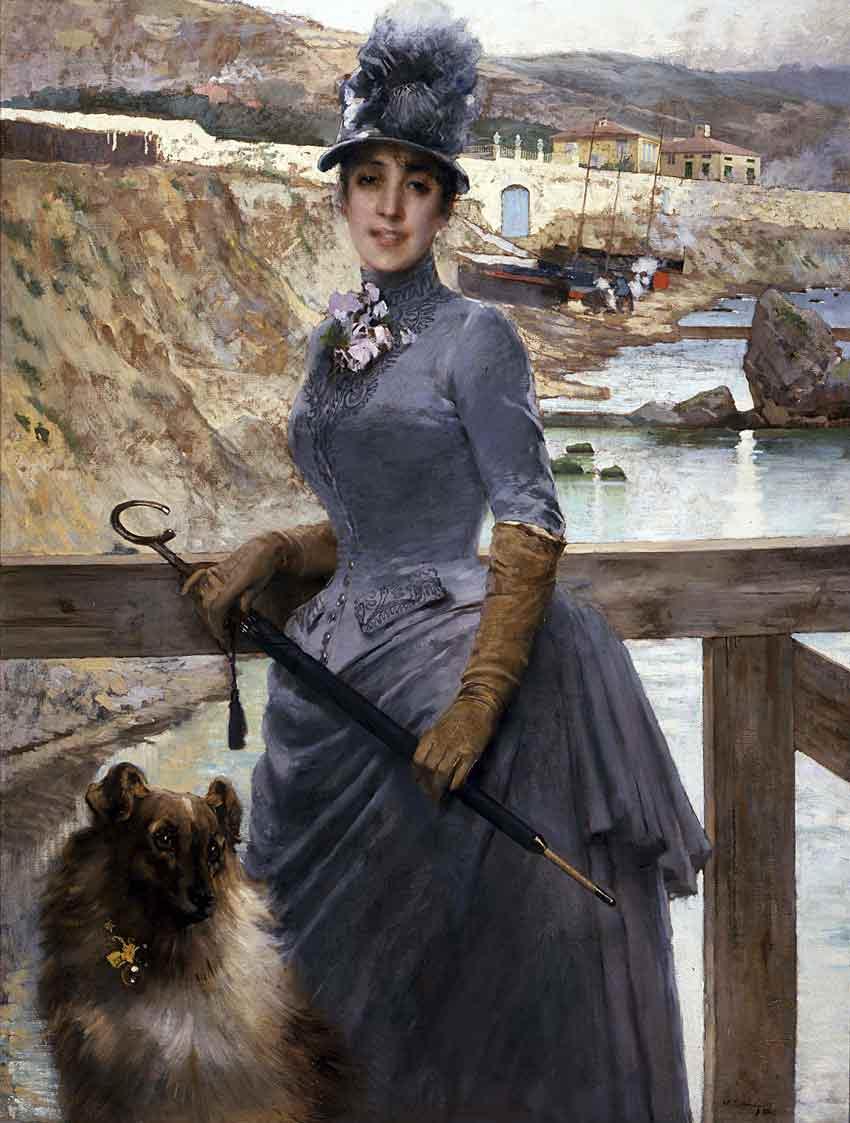 Vittorio Corcos, La figlia di Jack La Bolina, 1888