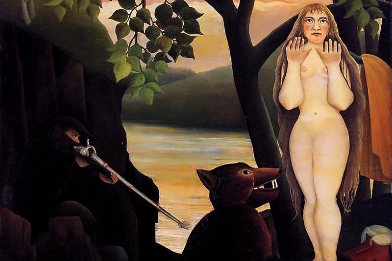 Henri Rousseau, Nudo e orso, 1901