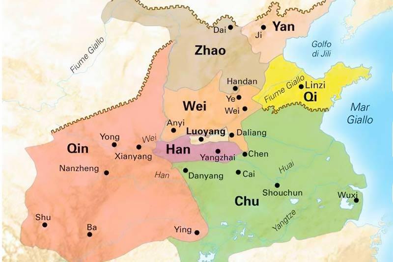 Mappa regni combattenti