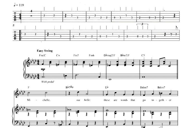 Notzione tradizionale e tablatura