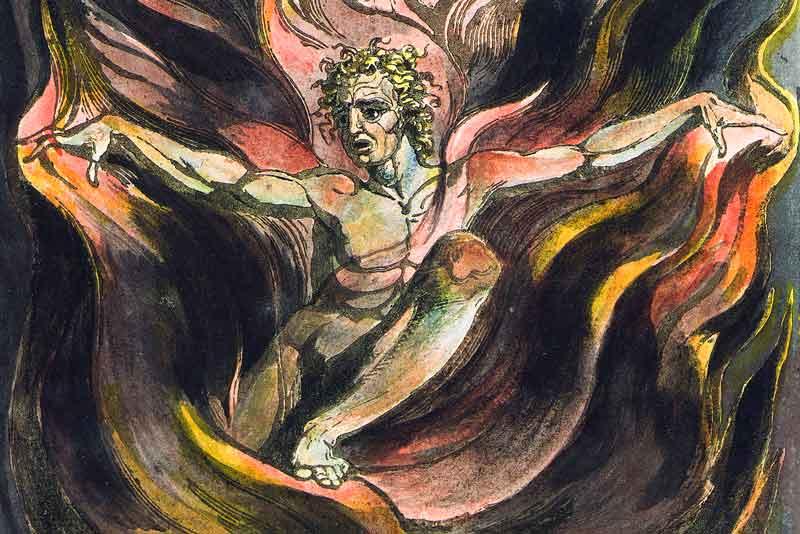 Anarcoccultismo: tavola 12 di America di Willam Blake, Orc