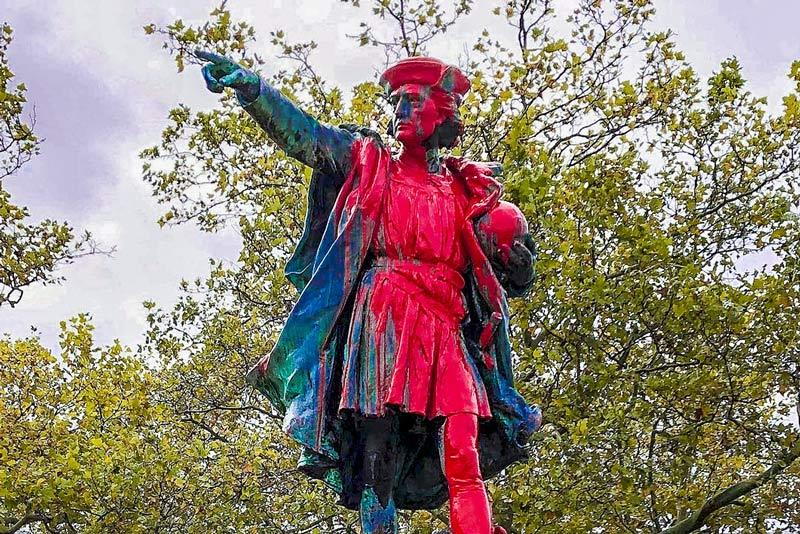 Guerra delle statue. Cristoforo Colombo Providence