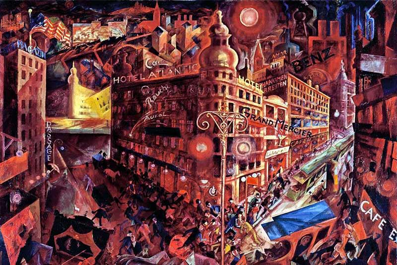 George Grosz, Metropolis. 1916-17 (particolare)