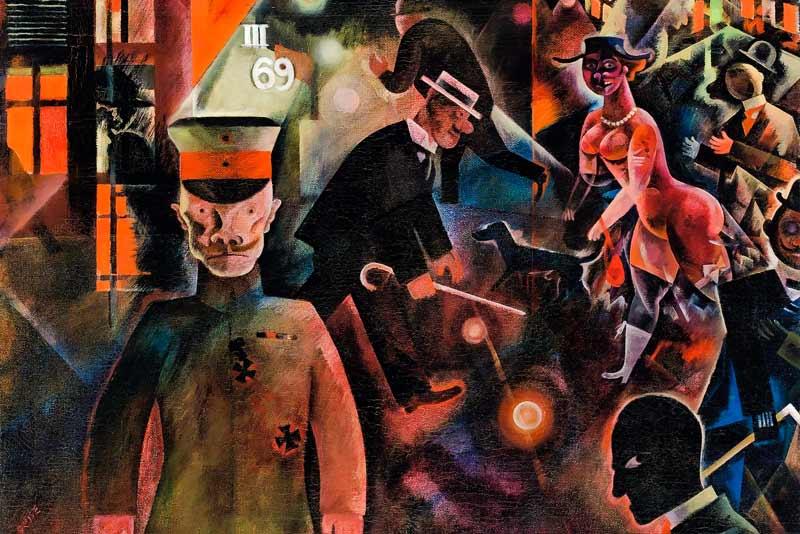 George Grosz, Strada pericolosa, 1918